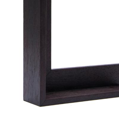 Espresso Canvas Floater Frame