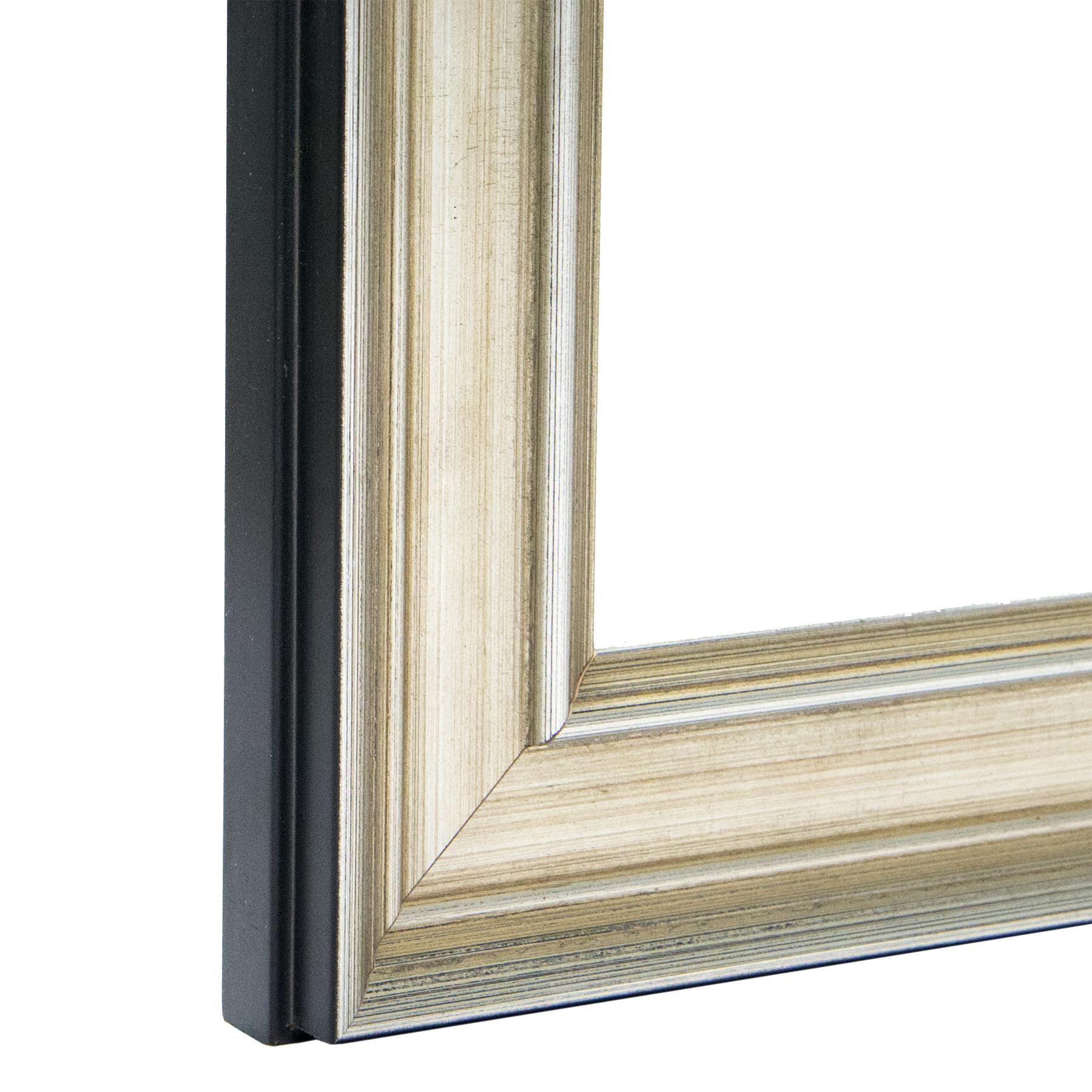 Thick Antique Silver Frame, Sterling Custom Frame I FramedIt