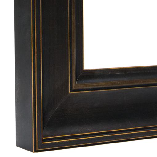 Chestnut Distressed Black Scoop Frame