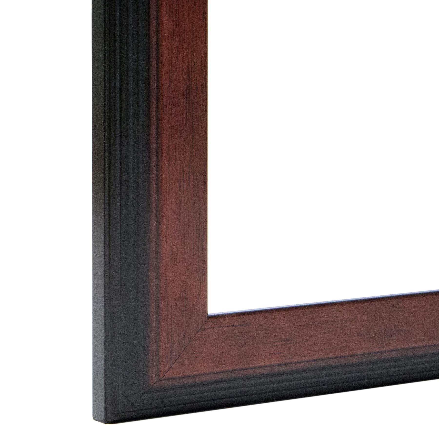 Reverse Stepped Mahogany Frame, Custom Stepped Frame I FramedIt