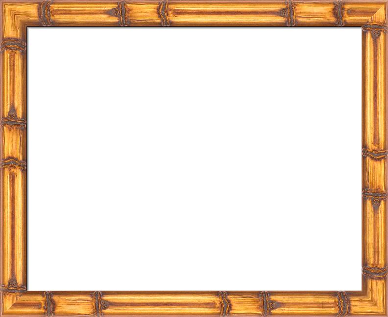 Gold Bamboo-Style Frame, Aztec I FramedIt