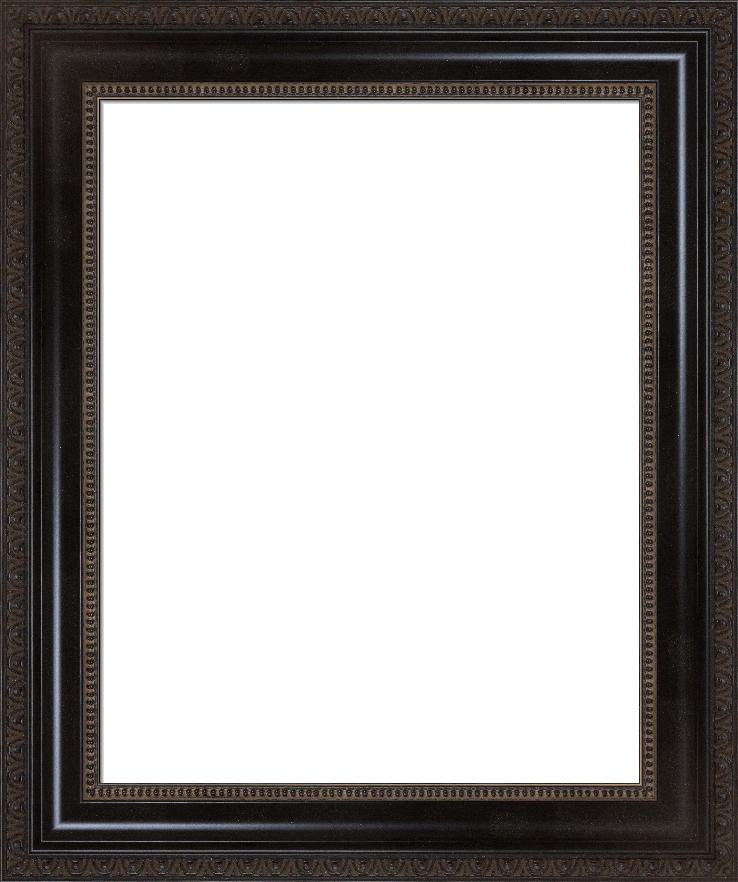 Antique Ornate Black Frame Heirloom I FramedIt